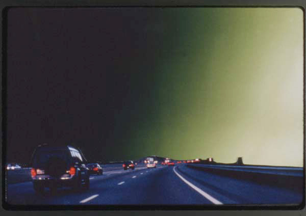 Shirley Irons, <em>Amy's Sky</em>, 1998. Cibachrome, 22 x 32 in. Courtesy the artist and Gallery Luisotti, Los Angeles.