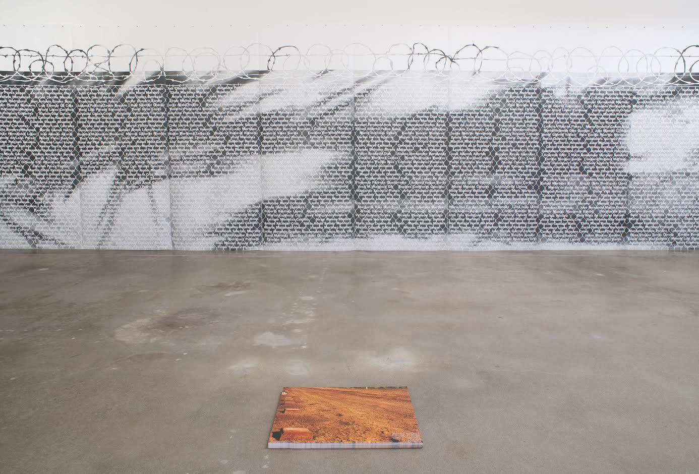 Andrea Bowers, <em>No Olvidado - Not Forgotten</em>, 2010. Graphite on paper, 23 drawings, 50 x 120 in. each. Photos: Robert Wedemeyer. All images courtesy Susanne Vielmetter Los Angeles Projects.