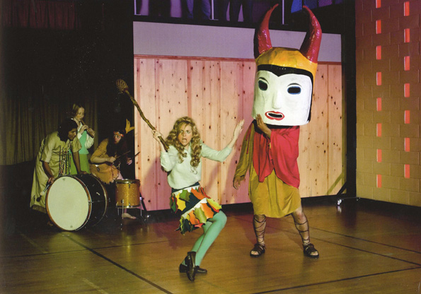Production still from <em>Gym Interior (Extracurricular Activity Projective Reconstructions #10, 21, 214)</em>, 2004-05. Photo: Fredrik Nilsen. Art © Mike Kelley Foundation for the Arts. All rights reserved/Licensed by VAGA, New York, NY