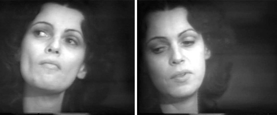 Stills from Lyn Blumenthal and Kate Horsfield, <em>Pat Steir 1975: An Interview</em>. Copyright of the artists. Courtesy Video Data Bank.