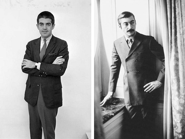 Left: Irving Blum, ca. 1962. Photo: Frank J. Thomas. Courtesy of the Frank J. Thomas Archive. Right: Everett Ellin, ca. 1958-1963. Everett Ellin papers, Archives of American Art, Smithsonian Institution.