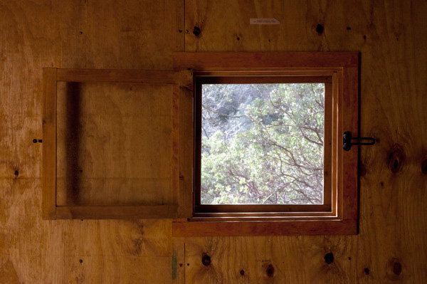 James Benning, <em>Ted Kaczynski Cabin: Window (detail)</em>, 2008. Photograph.