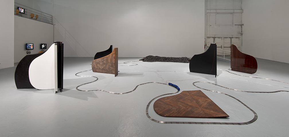 """Installation view of """"Blues for Smoke"""" at The Geffen Contemporary at MOCA, October 21, 2012-January 7, 2013. Photo by Brian Forrest."""
