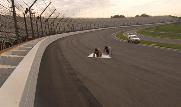 Tracing at the Indianapolis Motor Speedway, 2006. Courtesy of the artist.