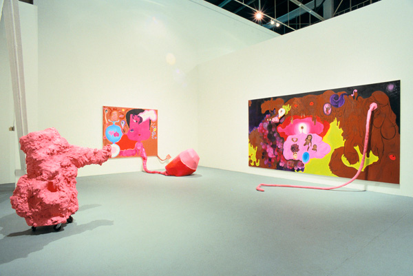 "Installation view of ""Helter Skelter: L.A. Art in the 1990s."" Photo by Paula Goldman. Courtesy of the Museum of Contemporary Art, Los Angeles."
