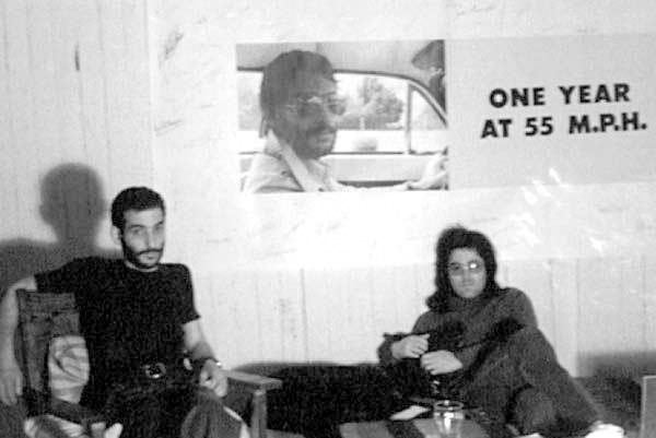 Jack Goldstein (right) with David Salle, 1975. Courtesy of The Estate of Jack Goldstein and 1301PE.