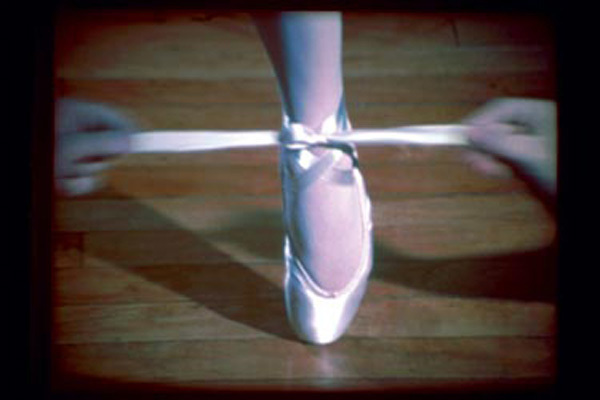 Jack Goldstein, still from <i>A Ballet Shoe</i>, 1975. 16mm film, 19 sec.