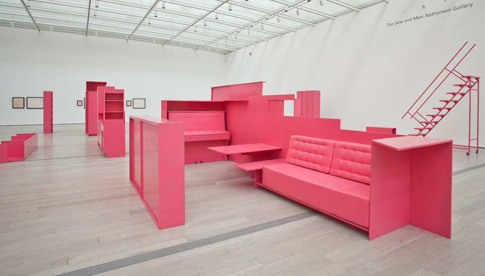Stephen Prina, <em>As He Remembered It</em> (detail), 2011. Installation view, Los Angeles County Museum of Art, 2013. Courtesy of the artist, Galerie Gisela Capitain, Cologne, and Petzel Gallery, New York. Photo: Museum associates / LACMA