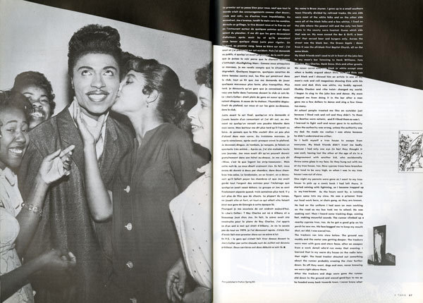"Little Richard, in an essay by Bruce Joyner of the LA-based band The Unknowns and Bruce Joyner and the Plantations, ""Way Down South in Dixie,"" <em>4 Taxis</em> no. 9/10, Spring 1984."