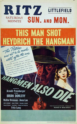 Poster for <em>Hangmen Also Die</em>, 1943.