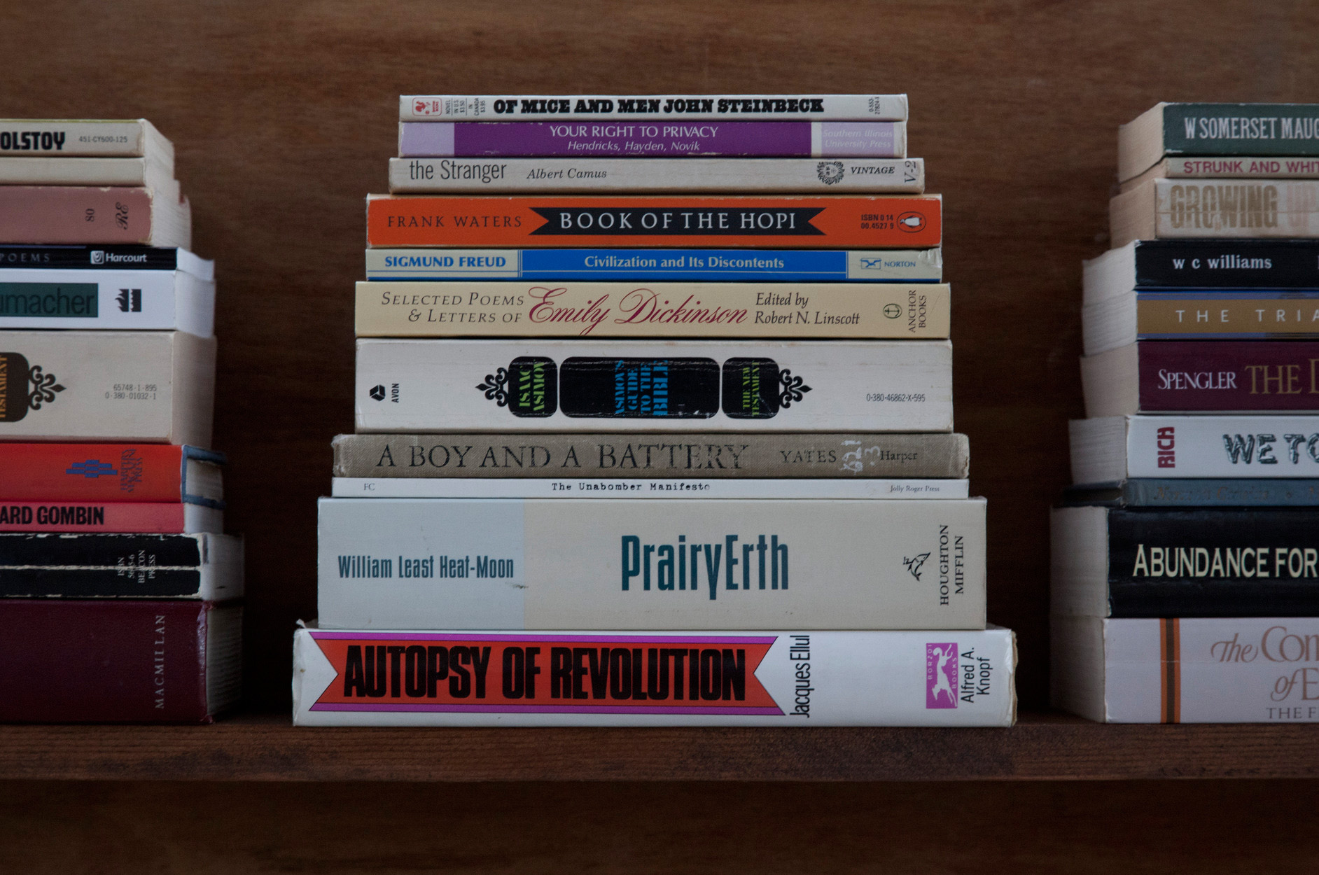 James Benning, <em>Ted Kaczynski Cabin: Library (detail)</em>, 2008. Photograph.