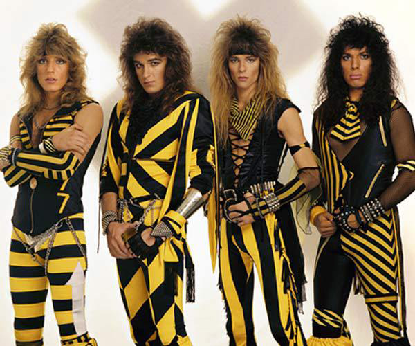 Christian glam metal band Stryper, ca. 1980s. Photo: Scarpati.