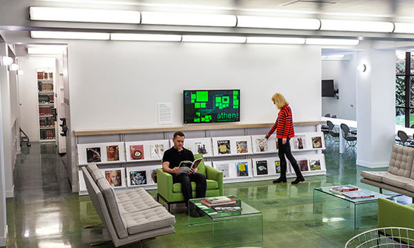 LACMA's Art + Technology Lab in the Balch Art Research Library