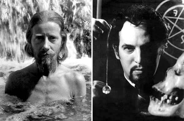 Left: Nature Boy eden ahbez, ca. 1945. Peter Stackpole Archive/Gift of the Stackpole Family © Peter Stackpole. Right: Anton Szandor LaVey, ca. 1960s.