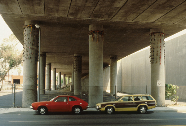 Senga Nengudi, <em>Freeway Fets</em>, 1978. Installation, mixed media.