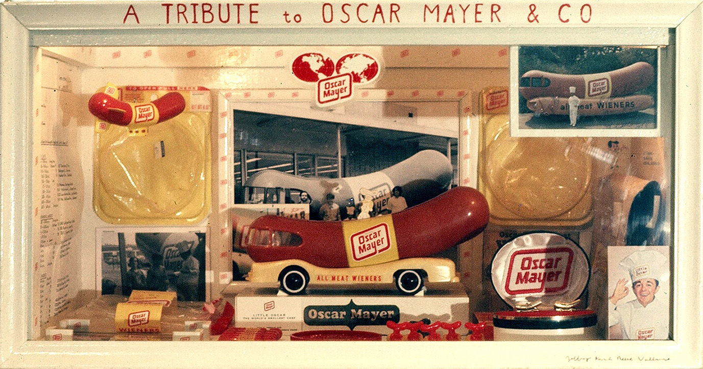 Jeffrey Vallance, <i>A Tribute to Oscar Mayer</i>, 1974. Mixed media.