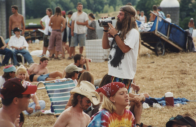 30th anniversary of the Woodstock Concert, 1999, Woodstock, NY. Photo: Chris Conroy.