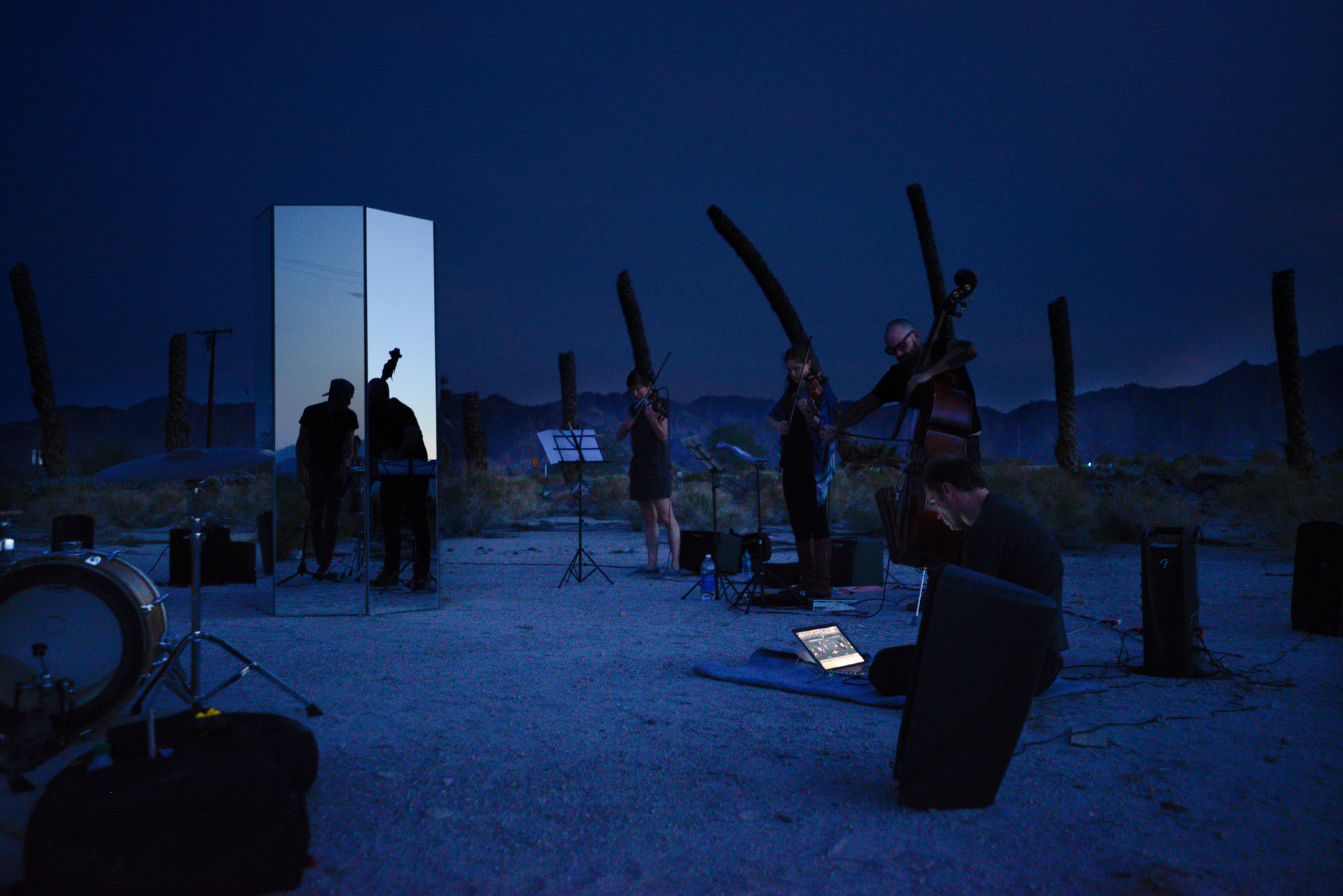 Scott Benzel, <i>Desert Center (Composition I-10, Mvmt IV: Dusk)</i>, Desert Center, CA, 2015. Image courtesy of Zoe Crosher.