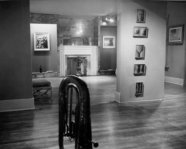 Rene Magritte exhibition at the Copley Galleries, ca. 1949. Photographer unknown. Courtesy of the William Nelson Copley papers, Archives of American Art, Smithsonian Institution.
