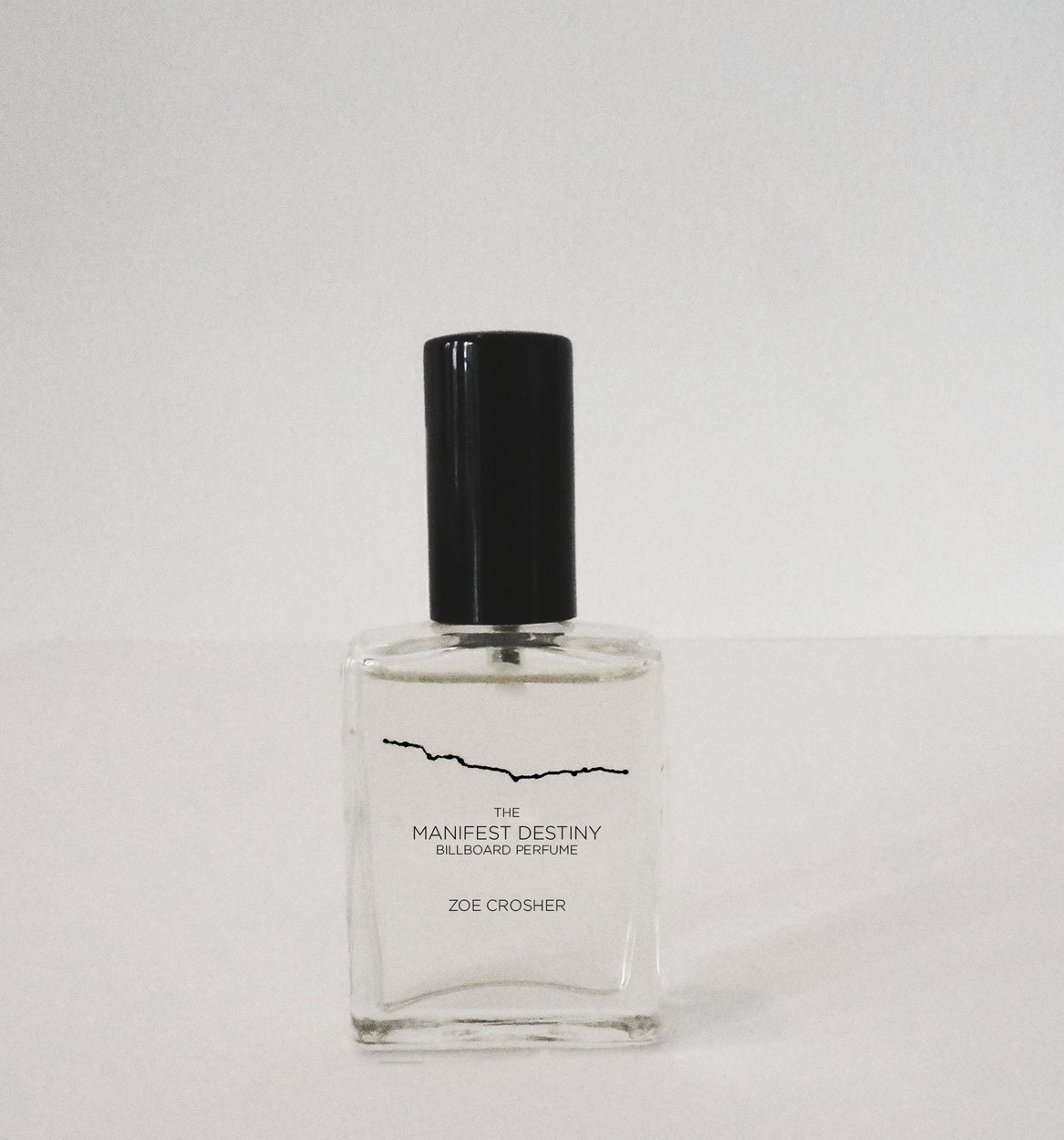 Zoe Crosher, <i>The Manifest Destiny Billboard Perfume</i>. 15 ml. (1/2 oz.), edition of 20, 2013-2015 (detail). Image courtesy of Saskia Wilson-Brown and LAND. A LAND Limited Edition Artist Multiple.