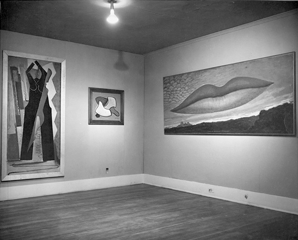 Man Ray exhibition at the Copley Galleries, ca. 1949. Photographer unknown. Courtesy of the William Nelson Copley papers, Archives of American Art, Smithsonian Institution.