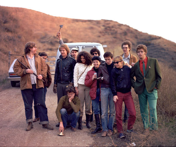 Shaw (right) and classmates at CalArts, ca. 1976-78.