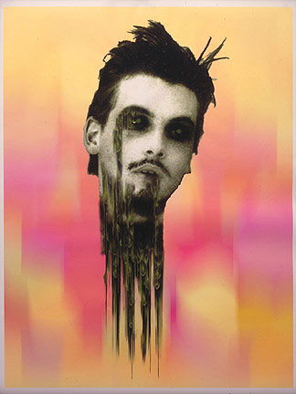 Richard Hawkins, <em>Disembodied Zombie Skeet Pink</em>, 1997. Inkjet print on paper, 47 x 36 in.