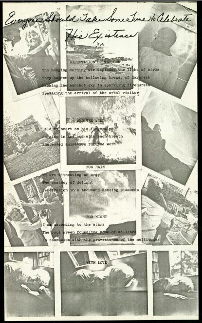Barbara T  Smith  Poetry: Joy   Xerox print set  1965-1966